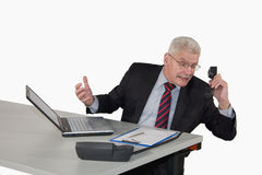 Senior manager discussing on the phone Royalty Free Stock Photo