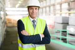 Senior Manager at Factory stock image