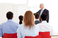 Senior Manager Giving A Presentation Royalty Free Stock Images