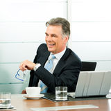 Senior Manager in a meeting Royalty Free Stock Photography