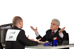 Senior manager rejecting applicant Royalty Free Stock Photography