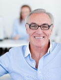 Senior manager wearing glasses Stock Photography