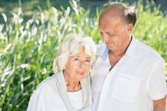 Senior marriage being in love Royalty Free Stock Photography