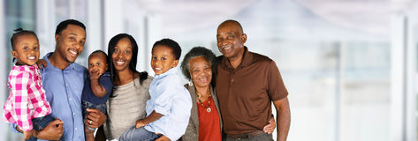 Senior Married Couple With Family Royalty Free Stock Photo