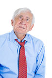 Senior mature, elderly man very sad and depressed and almost to the point of crying Royalty Free Stock Images