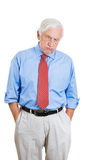 senior mature, elderly man very sad and frustrated by something Stock Photos