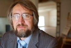 Senior mature professor stock image