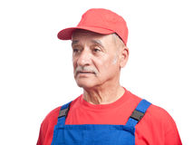Senior mechanic Royalty Free Stock Photo