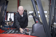 Senior mechanic Stock Images