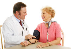 Senior Medical - Blood Pressure Normal Royalty Free Stock Photo