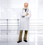 Senior medical doctor on clinic Royalty Free Stock Photography
