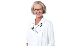 Senior medical professional posing Stock Image