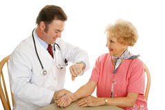 Senior Medical - Pulse Check Stock Image