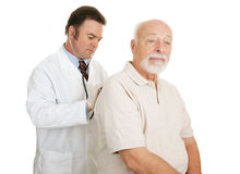 Senior Medical - Serious Exam Royalty Free Stock Photography