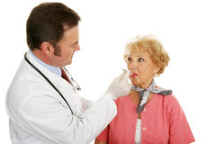 Senior Medical - Taking Temp Royalty Free Stock Photography