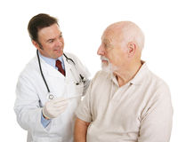 Senior Medical - Temperature Normal Stock Photo