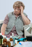 Senior and medicine royalty free stock images