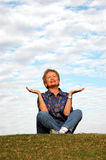 Senior meditation/praise Stock Photos