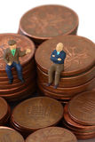 Senior men coins A Royalty Free Stock Images