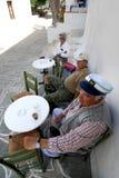 Senior men enjoying their coffee Royalty Free Stock Photo