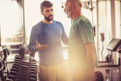 Support. People at gym. Royalty Free Stock Image