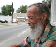 Senior mit einem Bart stockfoto