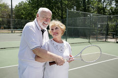 Senior Mixed Doubles Royalty Free Stock Images