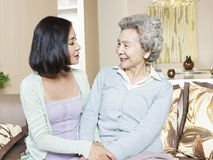 Senior mother and adult daughter Stock Photography