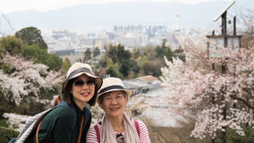 Senior mother and adult daughter Stock Photos
