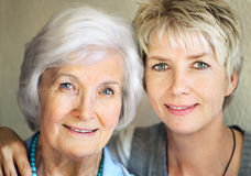 Free Senior Mother And Mature Daughter Royalty Free Stock Photos - 21348468