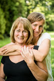 Senior mother with child portrait Royalty Free Stock Images