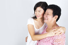 Senior mother and daughter Stock Images