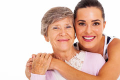 Senior mother daughter Royalty Free Stock Photos