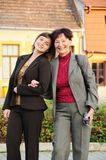Senior mother with daughter Royalty Free Stock Photo