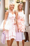 Senior Mother And Daughter Enjoying Shopping Stock Photography