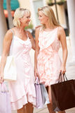 Senior Mother And Daughter Enjoying Shopping Royalty Free Stock Photos