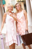 Senior Mother And Daughter Enjoying Shopping Stock Photo