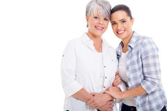 Senior mother daughter Stock Photos