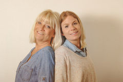 Senior mother and daughter Stock Photography