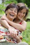 Senior mother enjoys life with her daughter Stock Photos