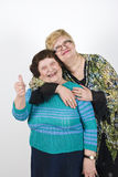 Senior mother with her mature daughter Royalty Free Stock Image