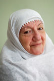 Senior muslim lady smiling Royalty Free Stock Photography