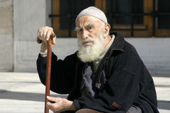 Senior Muslim Man. A portrait of a senior Muslim man stock photos