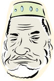 Senior Muslim Man. With beard over white background Stock Image