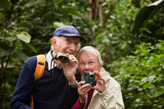 Senior Nature Lovers Stock Image