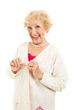 Senior with no Arthritis Symptoms Royalty Free Stock Images