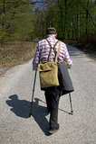 The senior nordic walking Royalty Free Stock Photos