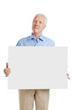 Senior old man with sign Royalty Free Stock Photography