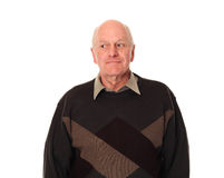 Senior older man looking left Royalty Free Stock Photo