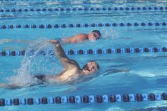 Senior Olympic Swimming Competition, Ojai, CA Stock Photos